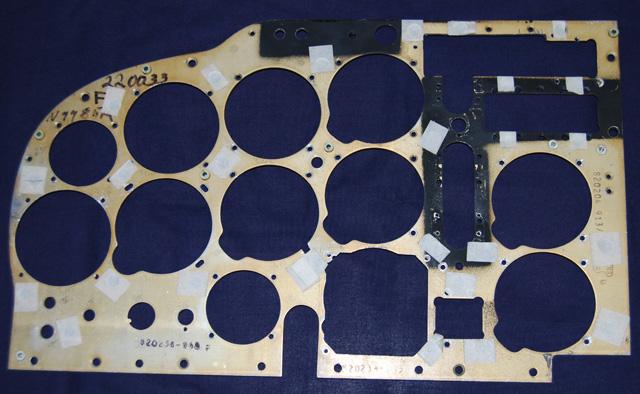 Mooney M20F Old Pilot Side Instrument Panel