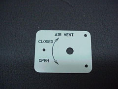 Cabin Vent Placard